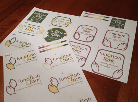 Function and Form Therapeutic Massage and Movement LLC Logo Design Mockups