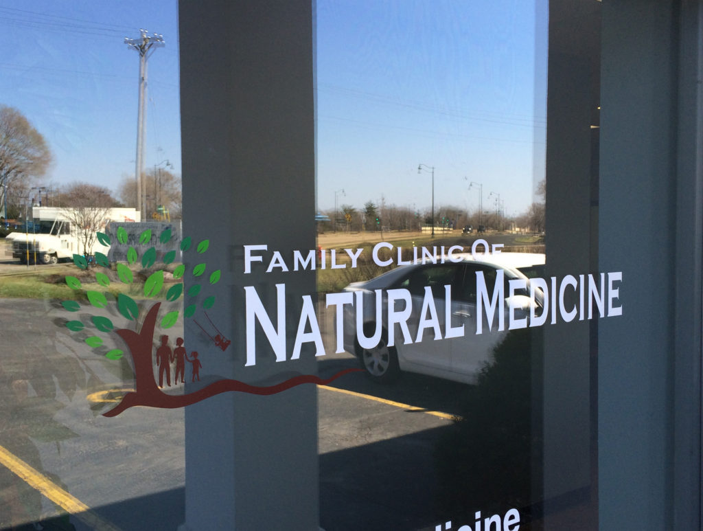 Family Clinic of Natural Medicine Glass Logo