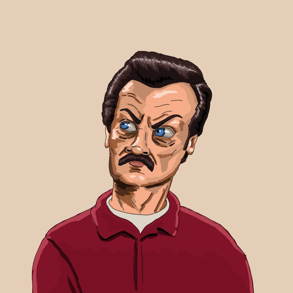 Ron Swanson Parks and Recreation Digital Art