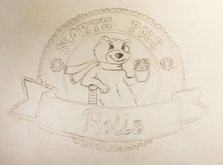 North-Pole-Rolls-Logo-Sketches