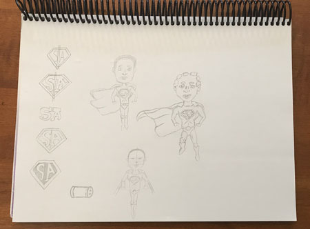 superman-anthony-planning-sketches