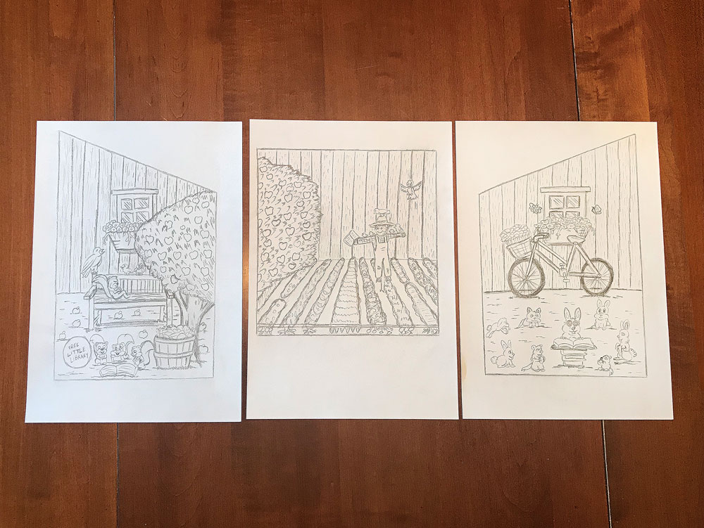 garden shed little library outside sketches thumb