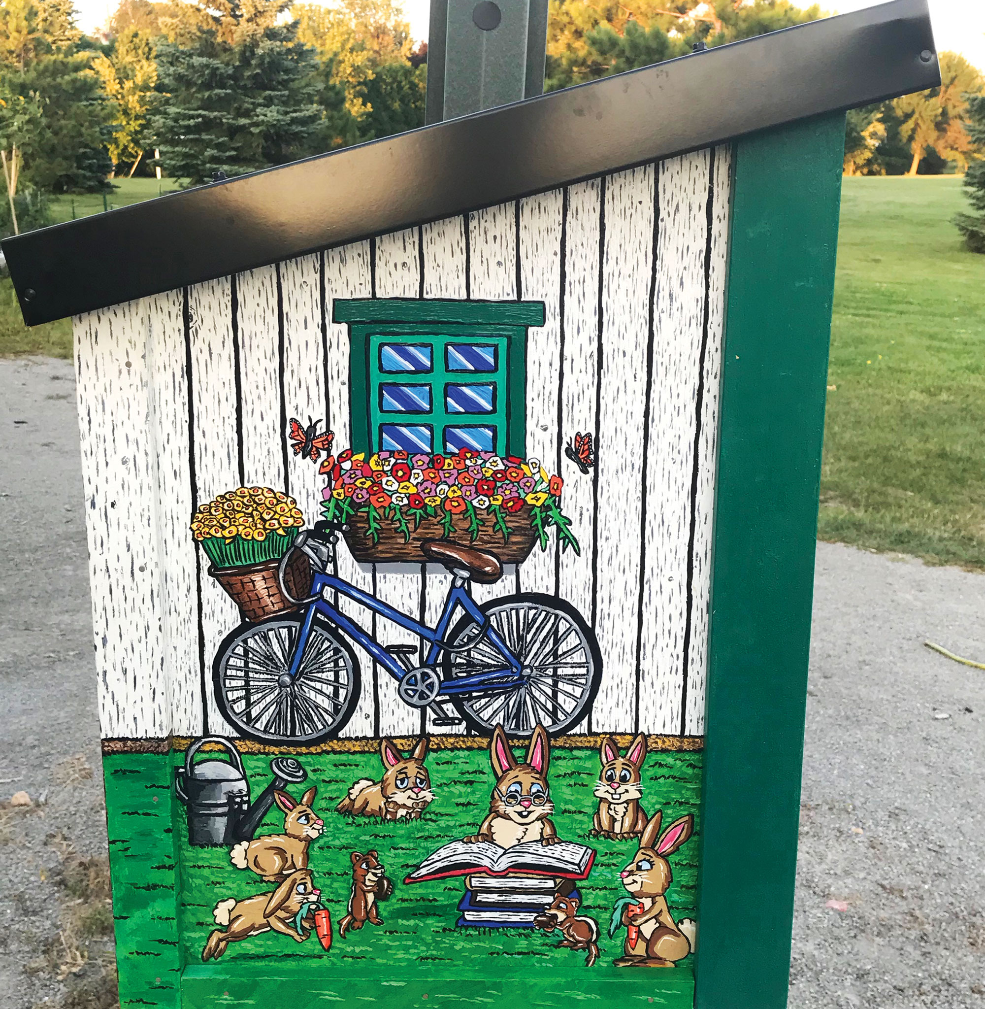 garden shed little library thumb-1