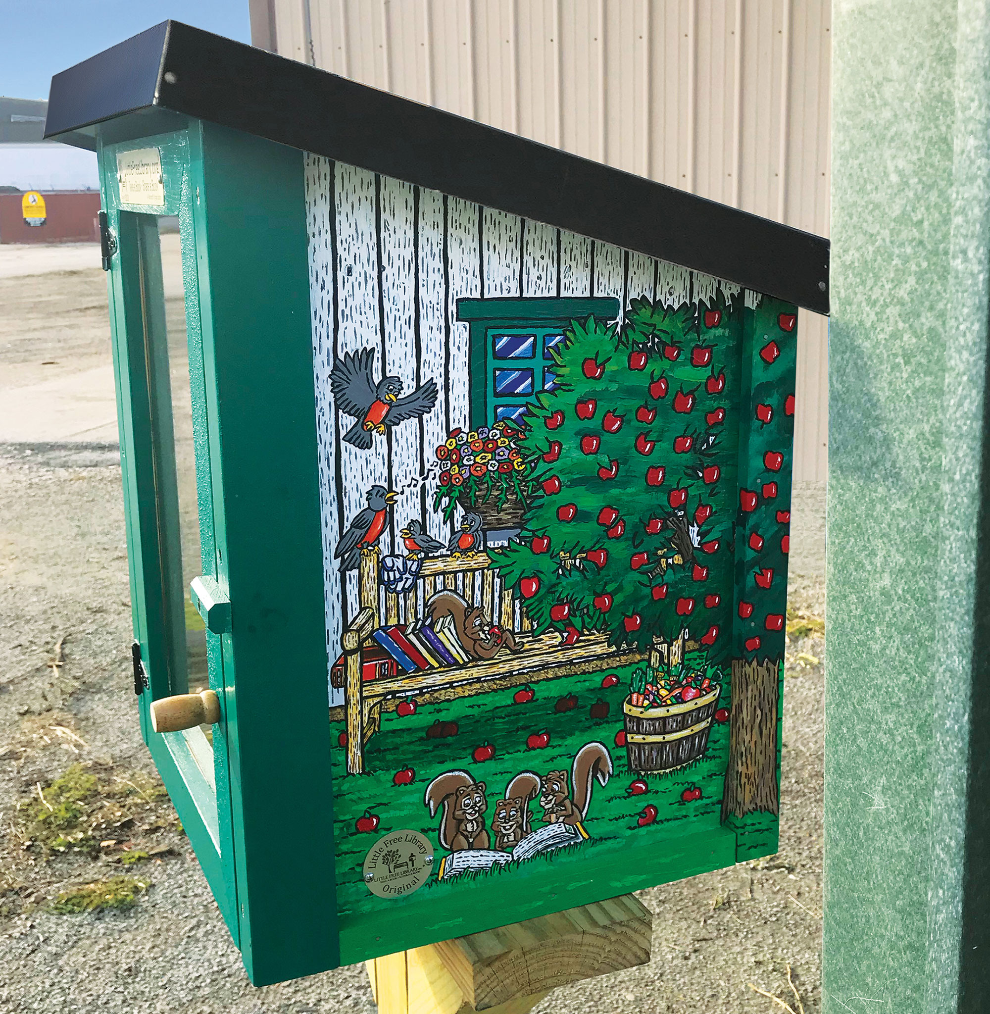 garden shed little library thumb 3