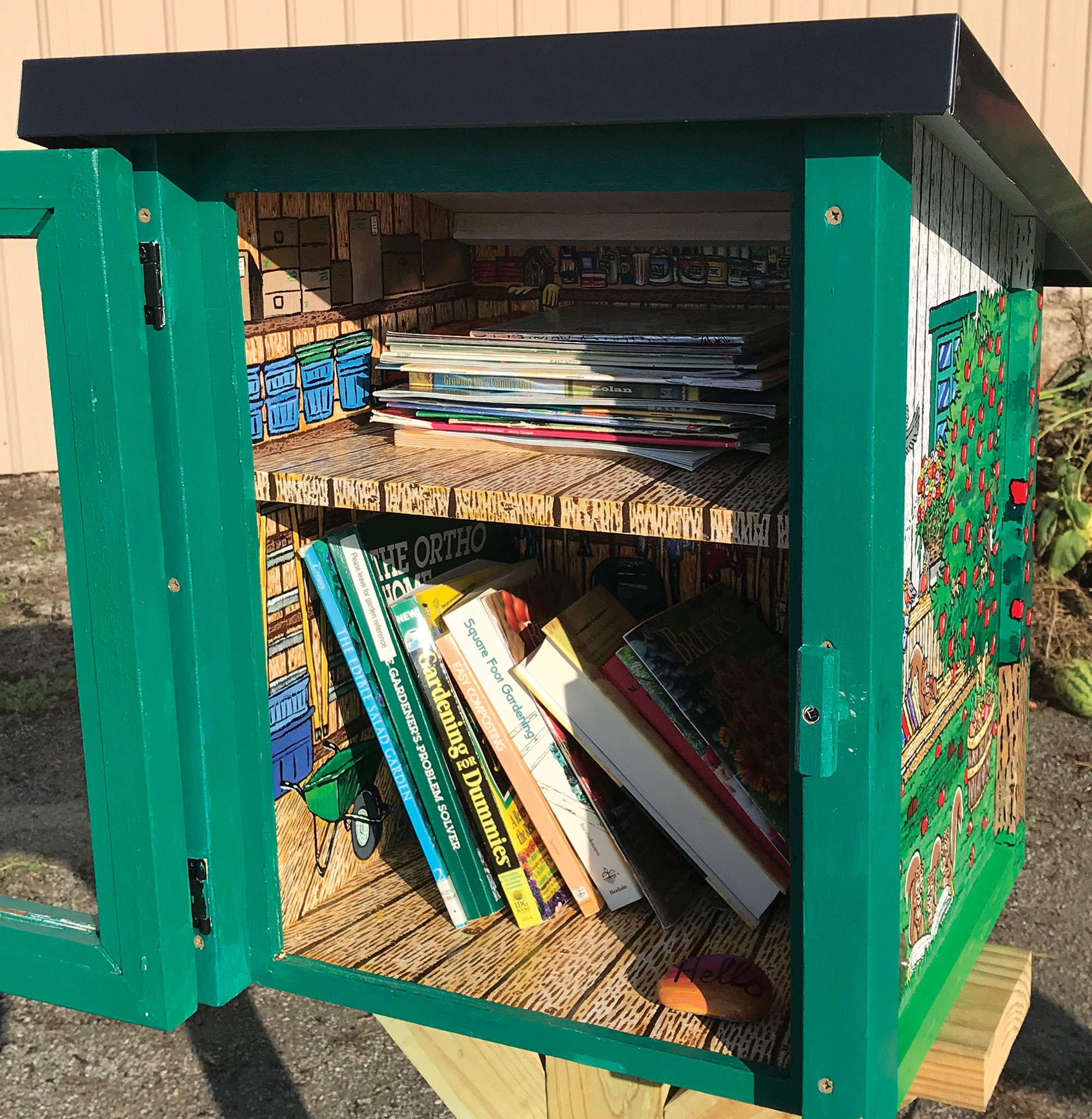 garden shed little library thumb 6